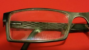 Eyeglasses Before Window Cloth