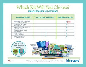 March Starter Kit options
